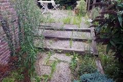 Ook pad & terras moeten aangepakt worden.