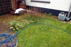 Organische vormen zijn ideaal uit te zetten met de tuinslang.